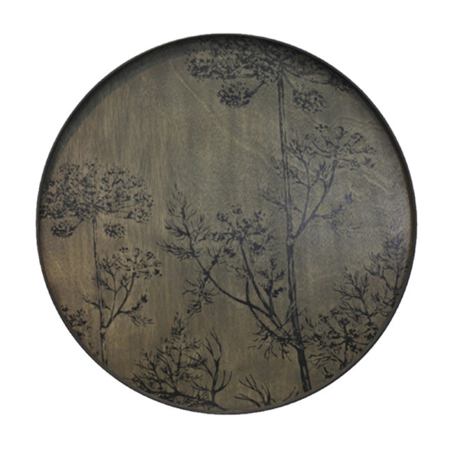 London Essentials - Black Dill Driftwood Round Tray, Extra Large