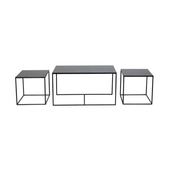 London Essentials - Charcoal Rectangular Nesting Tables, Set of 3