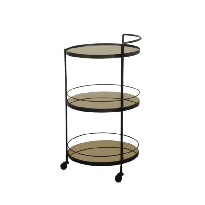 London Essentials - Lucy Bronze Round Bar Cart