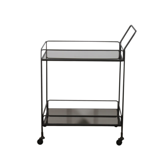 London Essentials - Dixon Charcoal Rectangular Bar Cart