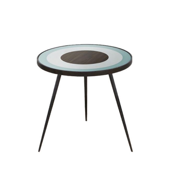 London Essentials - Sage Bullseye Side Table, Small
